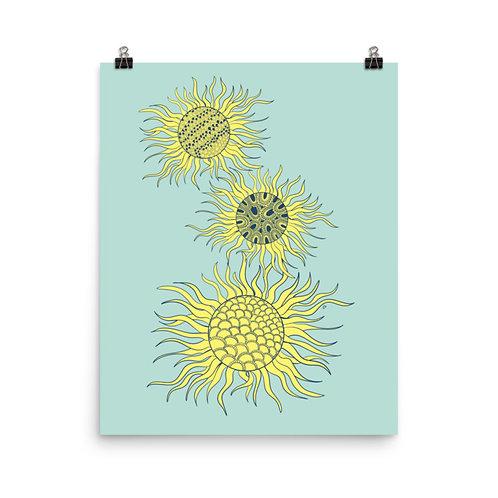 Good Day Sunshine Stack Art Print 16x20 inch
