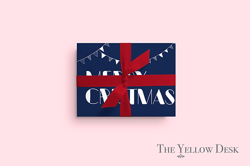Merry Christmas Gift Wrap pink