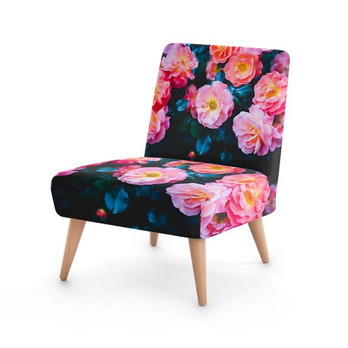 Blushing Rock Roses Occasional Chair