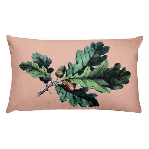 Oak and Acorn Lumbar Pillow