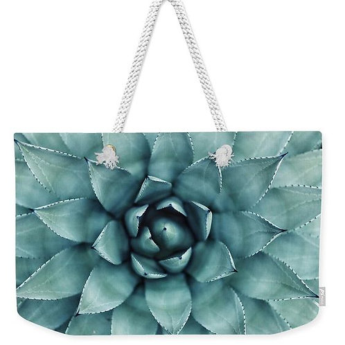 Spotted Succulent Weekender Tote