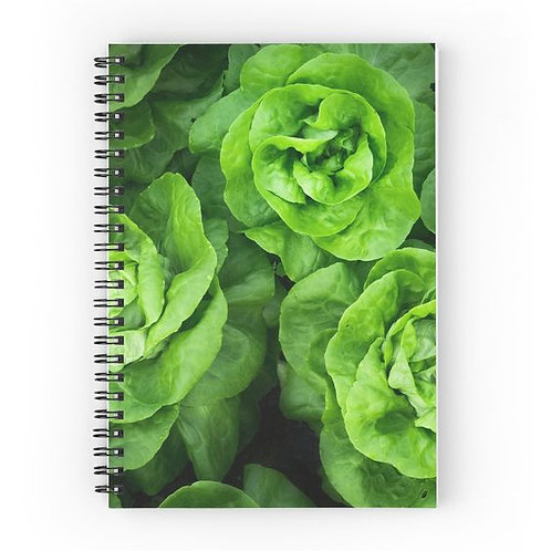 Dancine Lettuce Spiral Notebook Front