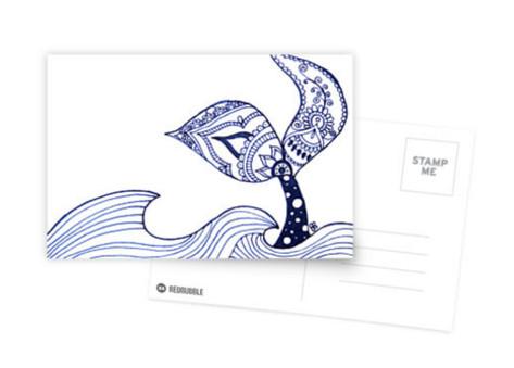 Mermaid Tail Sighting! Postcard