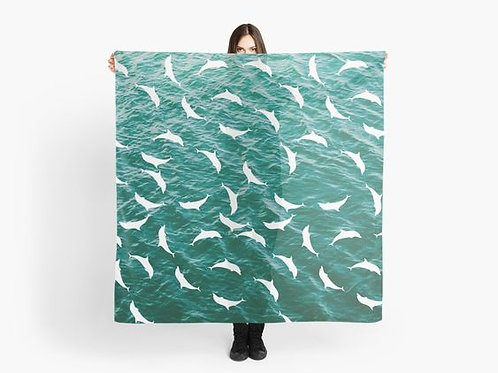 Dolphins Playing in the Ocean Scarf