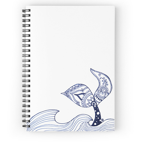 Mermaid Tail Sighting Spiral Notebook Front