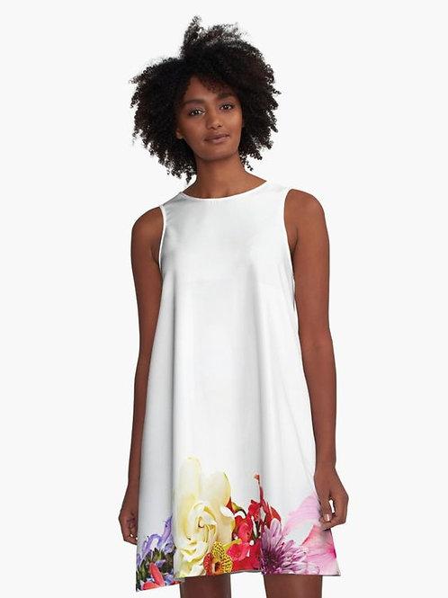 Tropical Bunch A-Line Dress