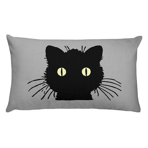 Fraidy Cat Lumbar Pillow