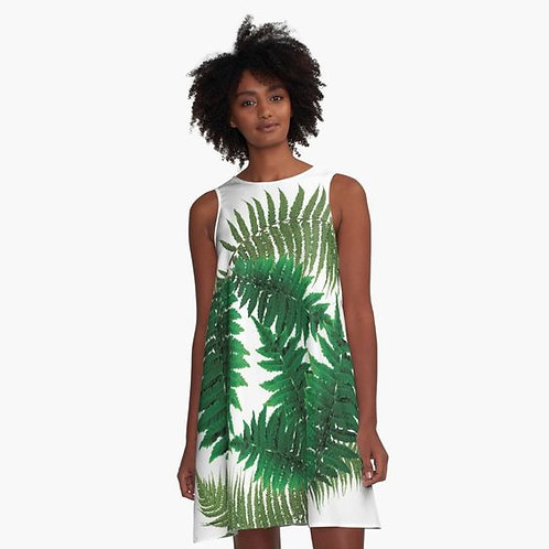 For the Love of Ferns A-Line Dress