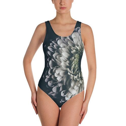 Moody Chrysanthemum One Piece Swimsuit