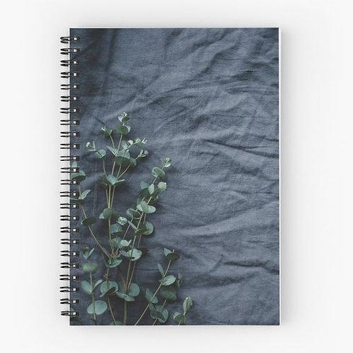 Linen and Eucalyptus Spiral Notebook Front