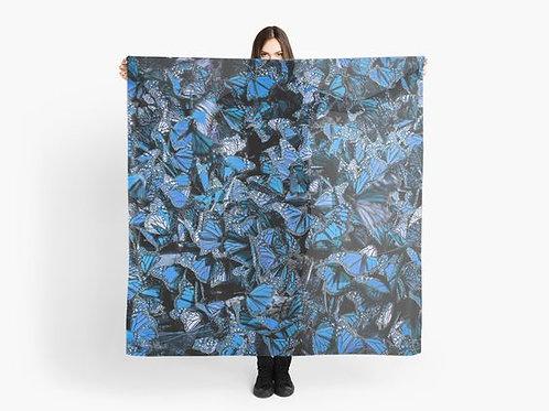 Blue Butterflies Scarf