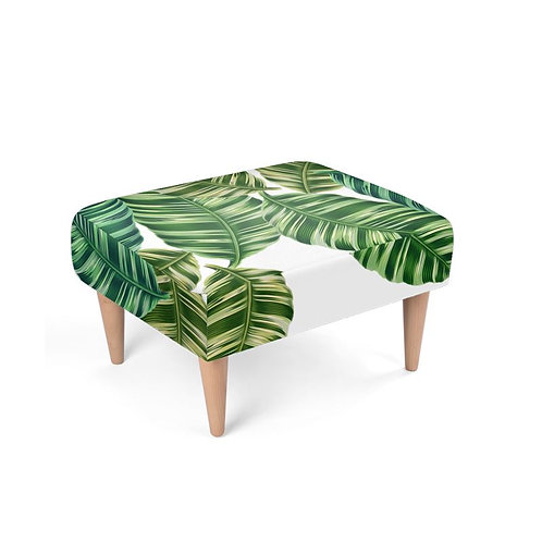 Feeling Tropical Footstool on white background