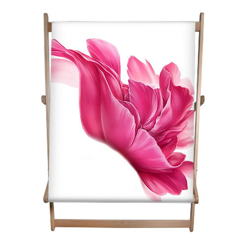 Passion Pink Flower Double Deckchair