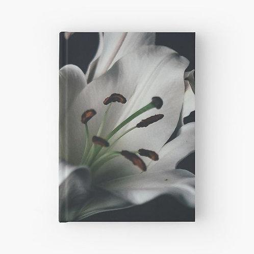 White Lilies Hardbound Journal Front View