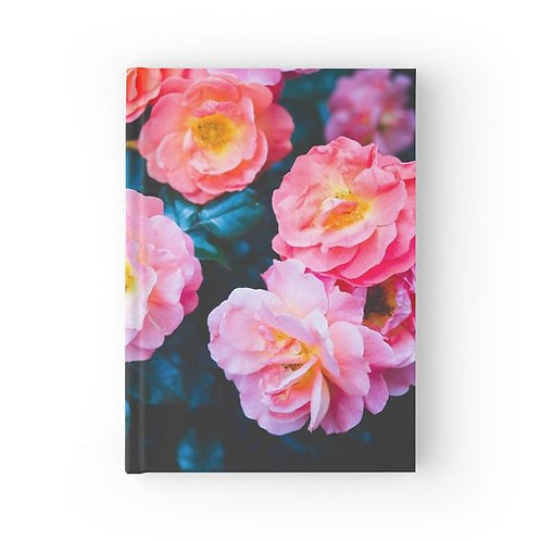 Blushing Rock Roses Hardbound Journal