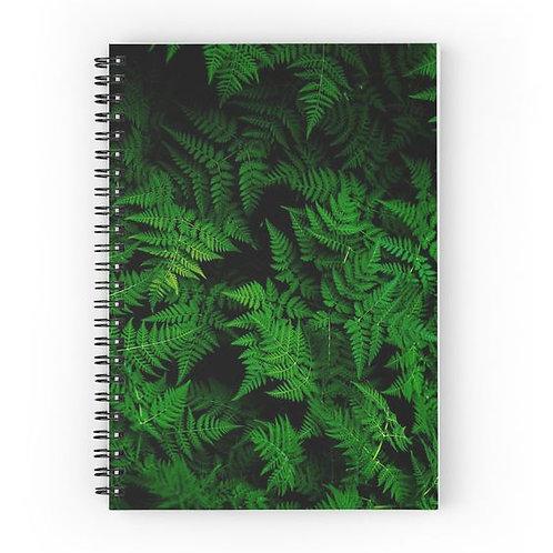 Cascade of Ferns Spiral Notebook Front