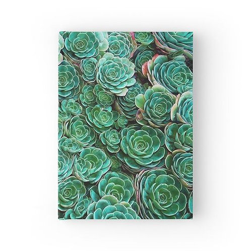 Swimming in Succulents Hardbound Journal Front View