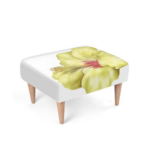 Yellowlicious Hibiscus Footstool on white
