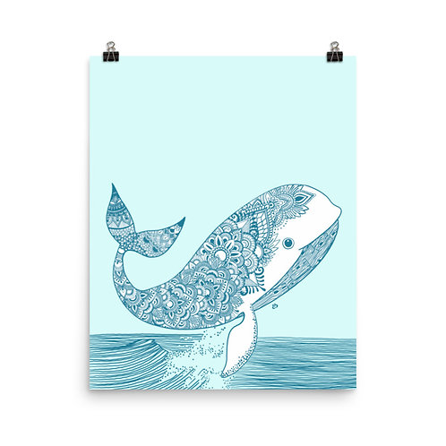 She's a Whale of a Good Time Art Print