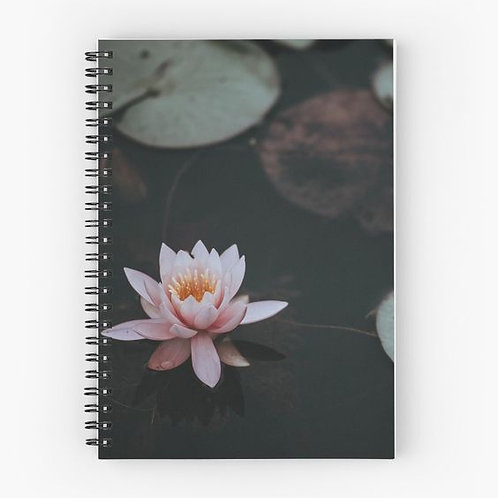 Water Lily Spiral Notebook Front