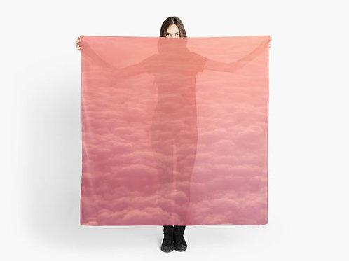 Peachy Pink Clouds Scarf