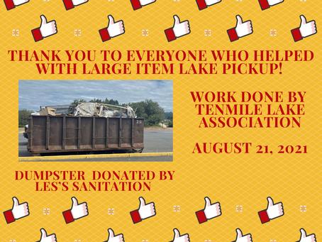 THANK YOU - Large Item Pickup Volunteers