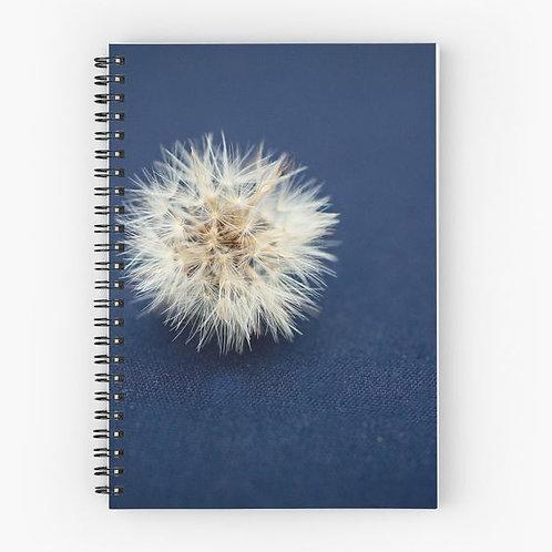 Denim and Dandelion Spiral Notebook Front