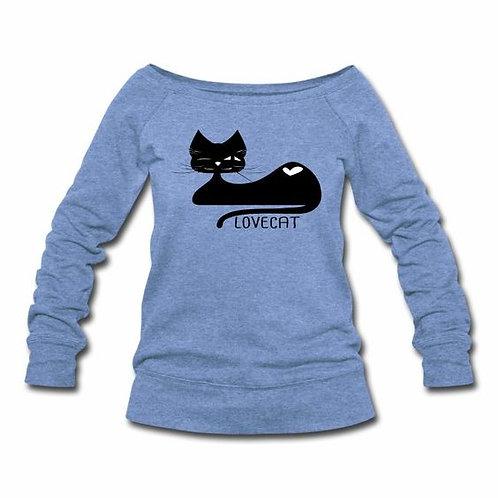 Love Cat Wideneck Sweatshirt