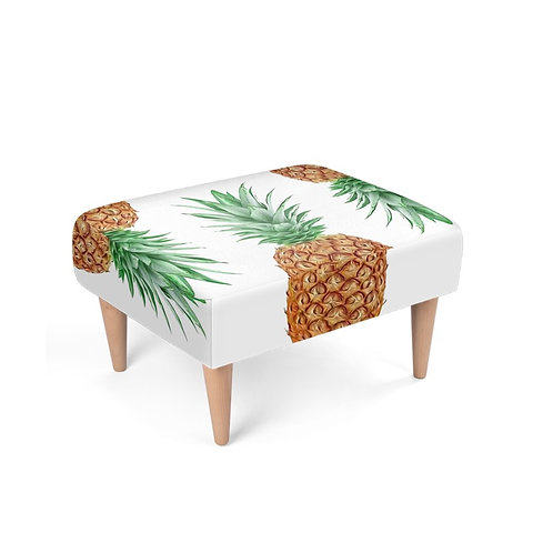 Pineapple Power Footstool on white