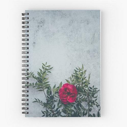 Wallflower III Spiral Notebook Front