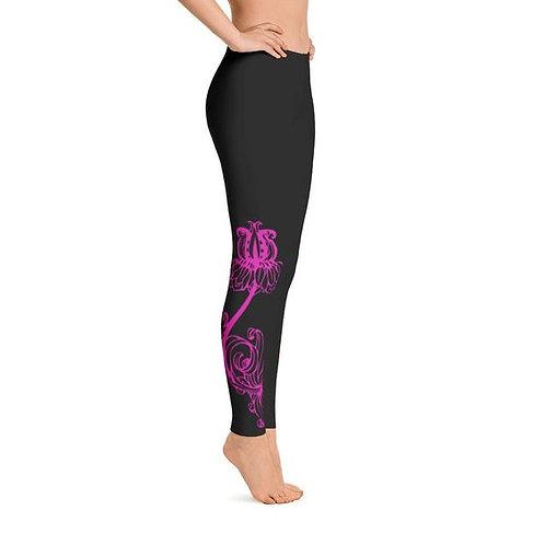 Pink Lotus Flower Leggings