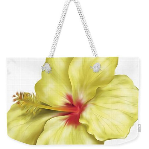 Yellolicious Hibiscus Weekender Tote
