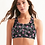 Camo and Roses Sports Bra front