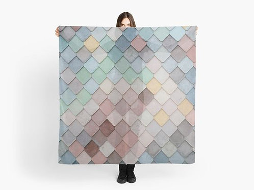 Colorful Pastel Tiles Scarf