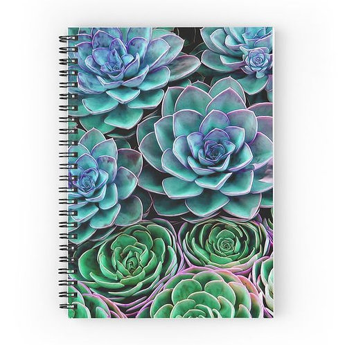 Sea of Succulents Spiral Notebook Front