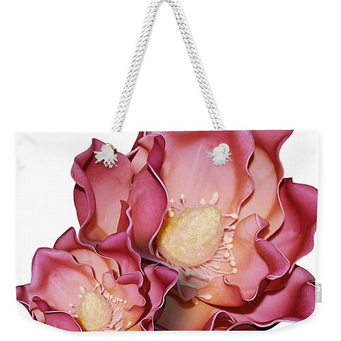 Rouge Ruffle Flowers Weekender Tote