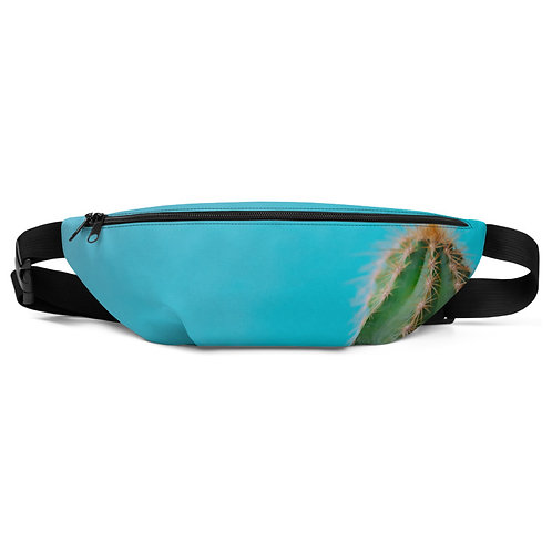 Cactus on Turquoise Hip Bag  front
