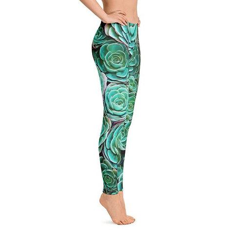 Swimming in Succulents Leggings