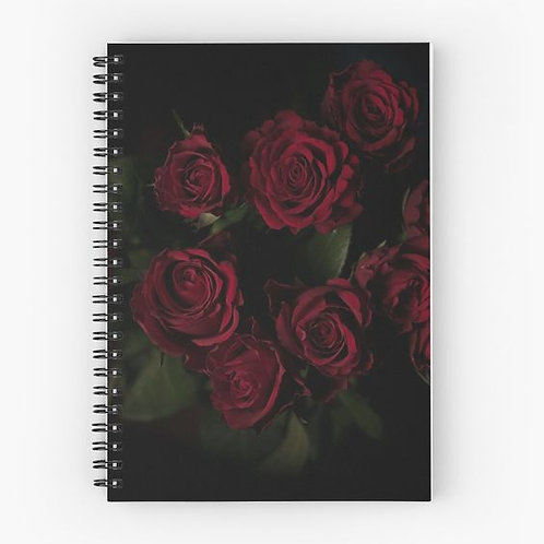 Romantic Spiral Notebook Front
