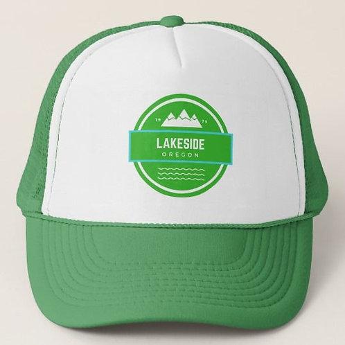 Discover Lakeside Oregon Green Trucker Hat