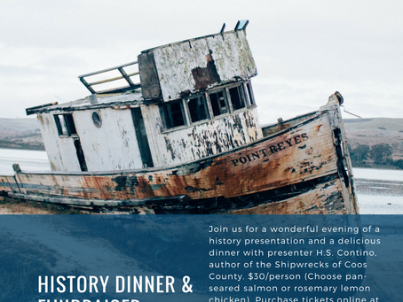 Join Us for the Shipwrecks of Coos County History Dinner!