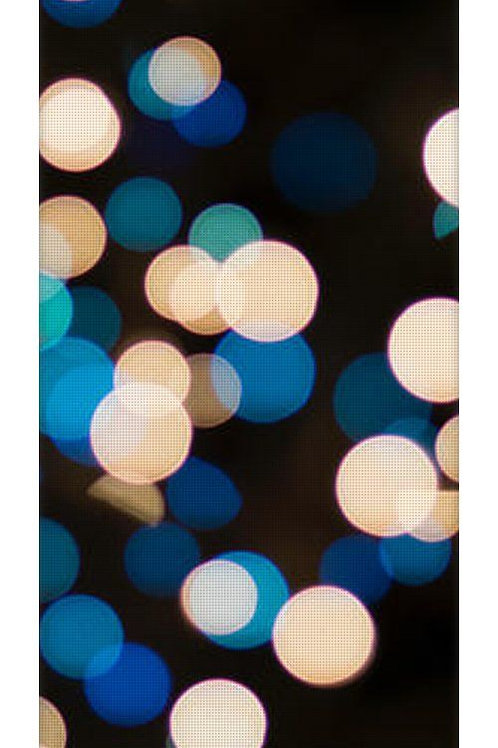 Blue and White Bokeh Lights Yoga Mat