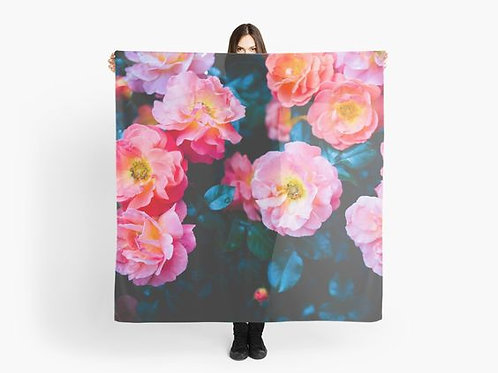 Blushing Rock Roses Scarf