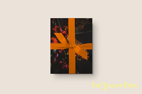 Flowers in Autumn Gift Wrap Vertical