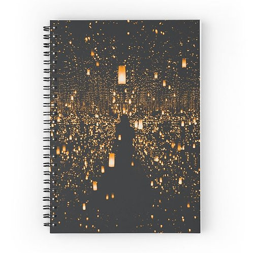 Floating Lanterns Spiral Notebook Front