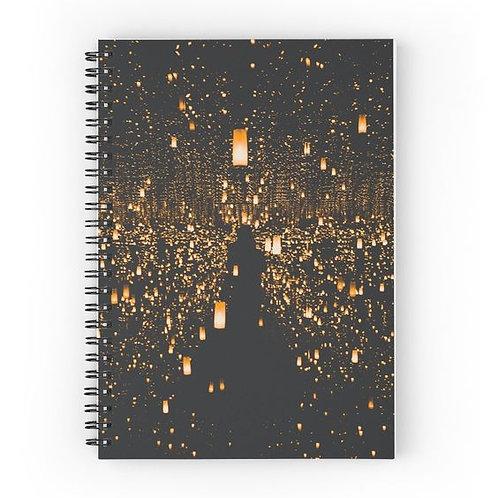 Floating Lanterns Spiral Notebook Front