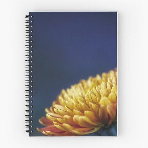 Yellow Chrysanthemum Spiral Notebook Front