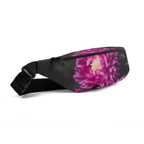 Pocket Full of Purple Mums Hip Bag Side View