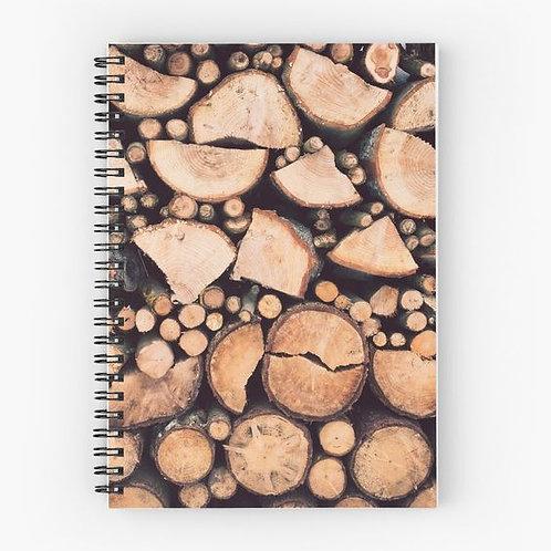 Firewood Spiral Notebook Front