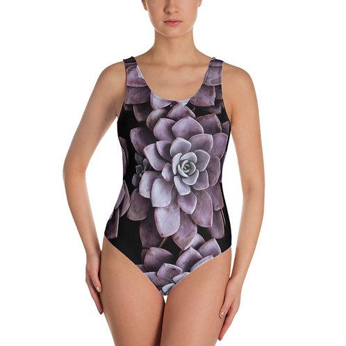 Lavender Succulents One Piece Swimsuit